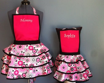 Personalized Mother/Daughter Apron Set
