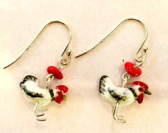 Chicken Ceramic Earrings