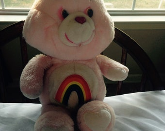Cheer Bear Care Bear Vintage Stuffed Plush Bear 1983