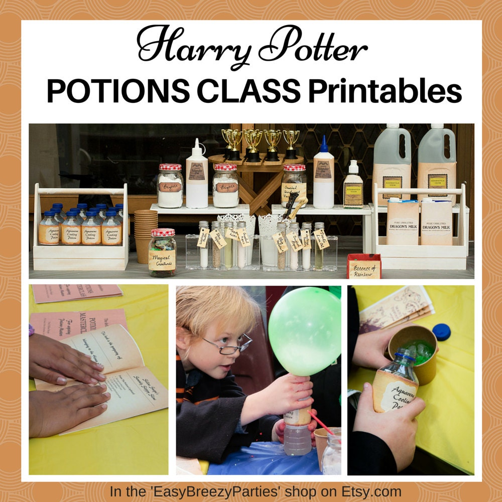 HARRY POTTER Potions Class Handbook and Labels Potion making   1000 x 1000 jpeg 196kB