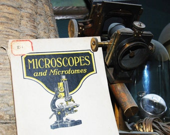 Genuine Vintage 1922 Bausch & Lomb Microscope Catalogue -- Free Shipping!