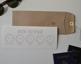 Time Zone Bon Voyage Card