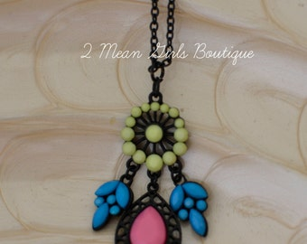 Rodeo Jewelry, Rodeo Necklace, Bohemian Necklace, Tribal Necklace, Boho Jewelry, Statement Necklace