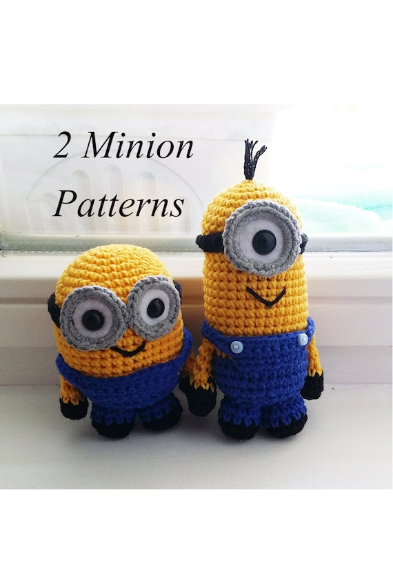 Free Crochet Pattern For Bob The Minion : Crochet Minion Amigurumi Pattern PDF 2 patterns included