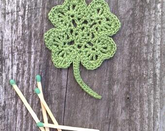 Crochet Clover Applique St. Patrick's Day Decoration