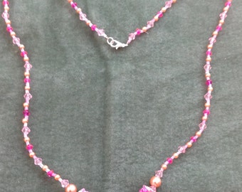Long Beaded Bead Necklace