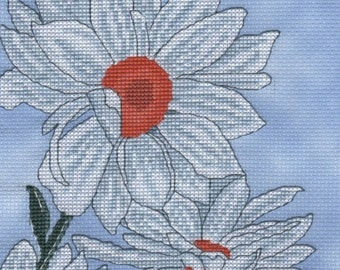 KL156 In Full Bloom -  Flowers Cross Stitch Kit - From the Rachael Day Collection at Goldleaf Needlework
