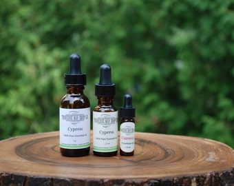 CYPRESS essential oil,100% pure essential oil, aromatherapy-soap supplies- essential oil diffuser, 1oz-1/2oz-dram