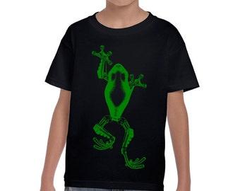 Boys Black Steampunk Frog Shirt