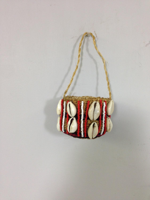 Kenyan Handmade Baskets : Baskets african kamba woven cowrie shell beads handmade tribal