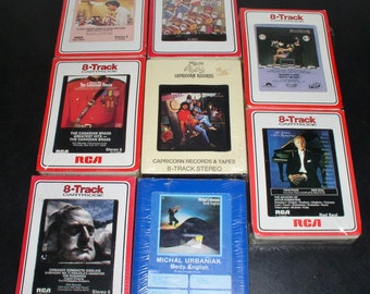 Lot of Eight (8) 8-Track Tapes - All Factory Sealed - 4 are RCA Red Seal - Vintage Records