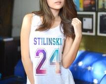 Stiles Stilinski Dylan O'Brien Galaxy Tank Top Space Sleeveless T Shirt Vest graphic tank top Women birthday gift best friend Tshirt