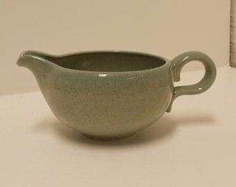 Vintage Bauer Mid Century Spackleware, Blue Grey Creamer; Retro, California Pottery