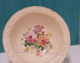 Ravenna; Vintage Floral Bowl; Shabby Chic