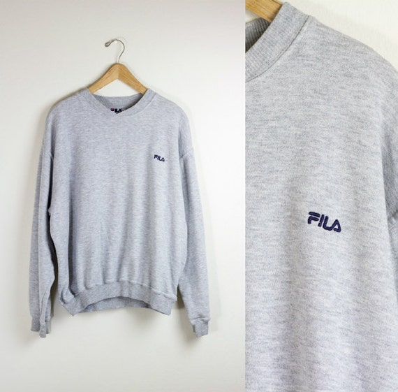 sweatshirt fila gris pull fila gris cavalier brod 90. Black Bedroom Furniture Sets. Home Design Ideas