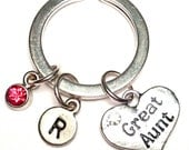 Great Aunt Keychain, Custom Keychain, Custom Key Ring, Aunt Pendant, Aunt Charm, Aunt Jewelry, Aunt Gift, Gifts for Aunts, I love my Aunt