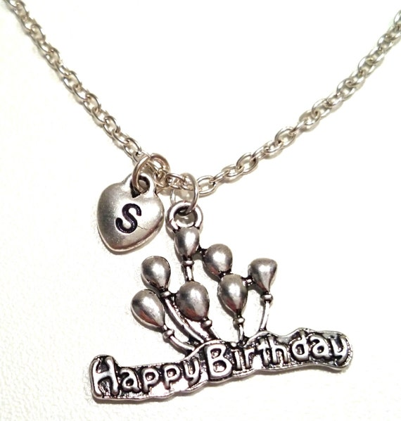 happy birthday necklace happy birthday by gustavsdachshundshop