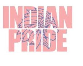 Indian Pride School Spirit Knockout Font SVG DXF Knockout Font Cricut Silhouette Cutting File