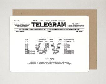 Love Novelty Card, Anniversary Card, Wedding Card, Greeting Card, Valentine's Day Card, Art Card, Love is Love TELEGRAM A6