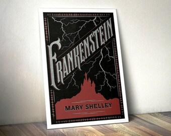 Literary Art Prints, Frankenstein Print - Book Worm, Literary Poster, Literary Quote Print, Book Cover Poster, Book Worm Art Print