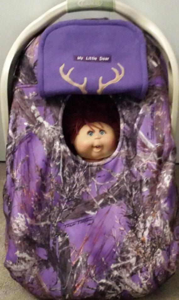 Car Seat Cover True Timber Purple Camo Baby Cozy Hand Made
