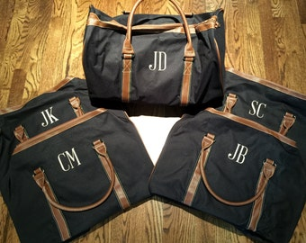Personalized Groomsmen's Duffle Bag - Monogrammed Duffle Bag -  - Personalized Duffle Bag - Men's Overnight Bag