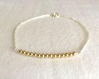 Dainty Beads Bracelet, Gold Fill Bracelet, Sterling Silver, Simple Bracelet, Friends Bracelet, Everyday Bracelet, Child Bracelet, Minimalist