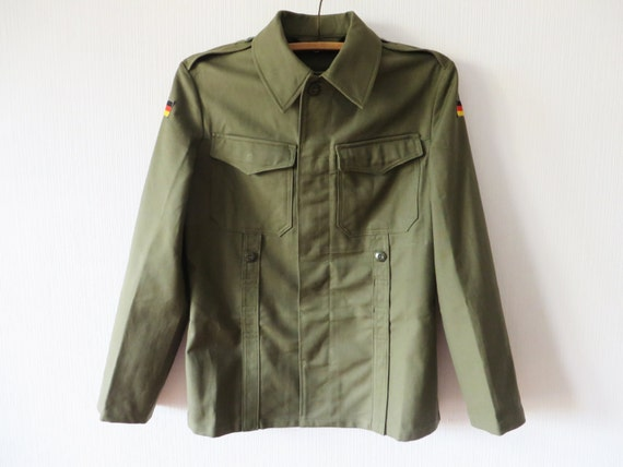 German Army Shirt Jacket Khaki Green Military Shirt Long