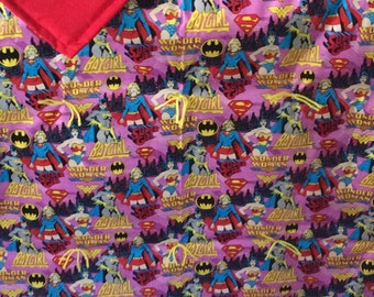 Batgirl and Wonder Woman blanket
