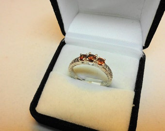 Sienna Red Diamonds in 14kt White Gold Ring.