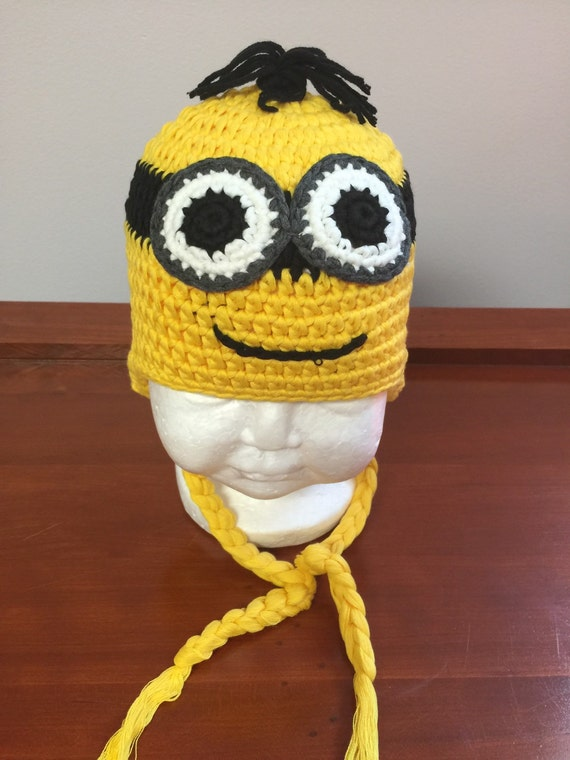 Free Crochet Pattern For Minion Hat With Ear Flaps : Minion crochet hat with ear flaps