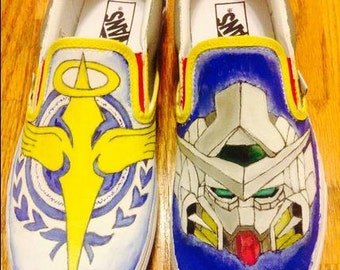 Custom Gundam 00 Painted Shoes