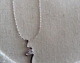 Elegant 18k Gold Plated Crystal Rhinestone Necklace