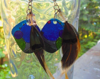 Shrinky-Dink Feather Earrings