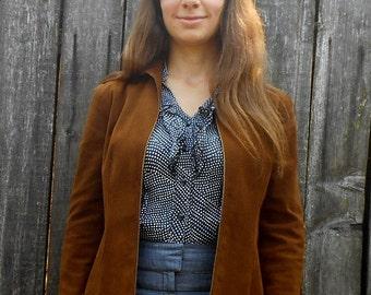 Vintage ultrasuede jacket // 70s Halston jacket // Brown suede jacket // Fall jacket // Retro suede jacket // XS