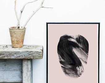 Watercolor Print, Abstract Art Print, Printable Art, Abstract Watercolor, Scandinavian Art, Pink Wall art, Minimalist Art, Abstract Wall Art
