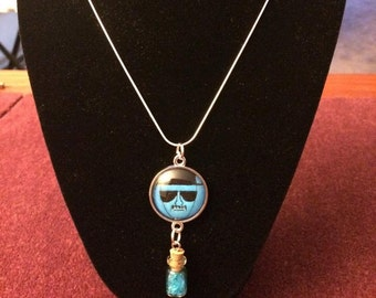 Breaking Bad Inspired Heinsenberg Blue Rock Candy Necklace