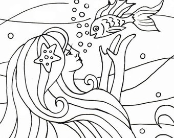 free pirate mermaid coloring pages - photo#16