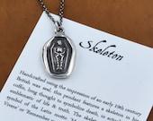 Memento Mori, Memento Vivere - Skeleton Wax Seal Pendant - 104