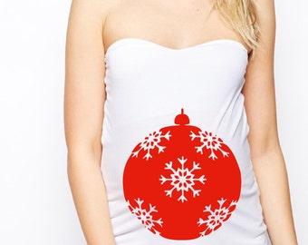 Vinyl Decal, Maternity Shirts, Christmas Ornaments, Maternity Tops, Maternity T Shirt, Christmas Maternity Shirt, Maternity Clothes