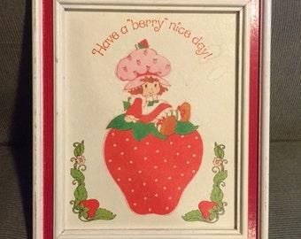 Strawberry Shortcake - Framed Print (1980s)