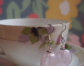 SALE Blushing - Handmade beaded earrings
