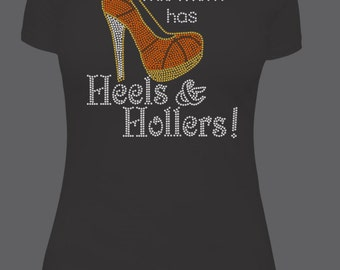 Basketball Mom Heels and Hollers T-Shirt