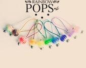 Knitting Stitch Markers snag free - RAINBOW POPS