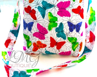 Butterfly Cross body bag  - Butterfly Bag / Butterfly diaper bag / Butterfly baby bag / Butterfly handmade bag - Butterfly purse