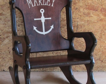 Cherry Rocking Chair - Nautical Theme