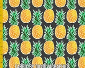Tropical Pineapple Fabric by the Yard
