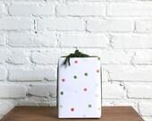 holiday watercolor polka dot gift wrap