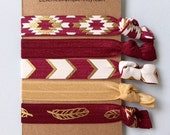 Boutique Hair ties FSU garnet and gold 5 pack - awesome gift