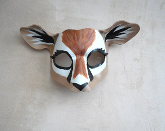 Gazelle Leather Mask - Deer Costume - Antelope Mask - Deer Costume - Lion King - Masquerade Mask - Halloween Costume - Theater  Prop Gazelle